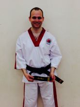 Joe Rice, promoted to 2nd Degree Black Belt, April 2014